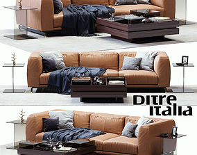 St Germain Leather Sofa 3D model