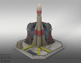 3D model Red Alert 2 Soviet Nuclear Silo