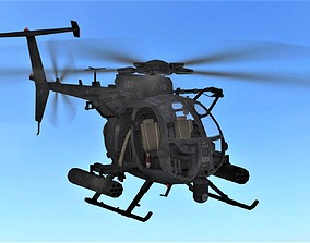 3D asset FLY Game-Ready 02 - Helicopter