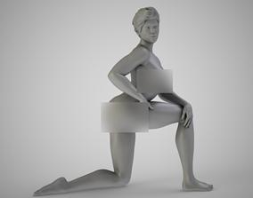 Woman on One Knee 3D print model