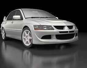 3D model Mitsubishi Lancer Evolution 8