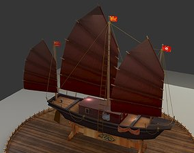 3D model Chinese junk boat