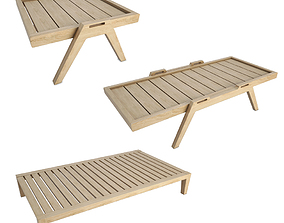 Synthesis Outdoor Wooden Tables 3D
