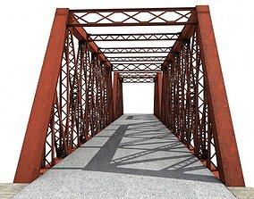 Steel truss bridge 3D model