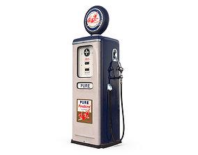 Vintage FIREBIRD Gas Pump 1948 3D
