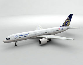 Boeing 757-200 Airliner - Continental Airlines 3D asset