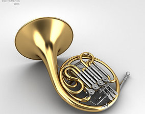 3D french French Horn