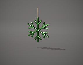 3D asset Green Snowflake Decoration
