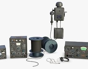 German bunker telecommunication WWII 3D
