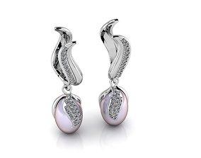 3D print model jewelry earings
