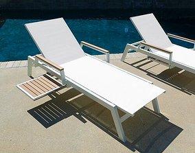 White Marina Chaise Lounge 3D model