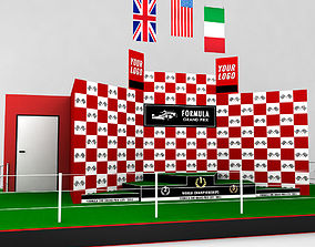 Formula One sport podium 3D model
