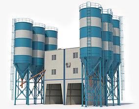 Cement Mixer Plant 3D asset