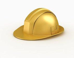 blue Construction Helmet 3D