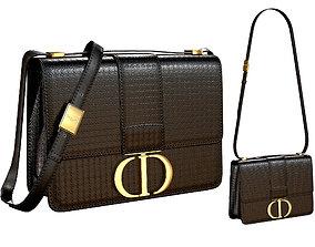 3D model Dior 30 Montaigne Bag Black