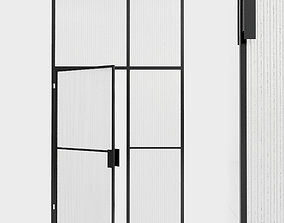 Glass partition door 97 3D asset