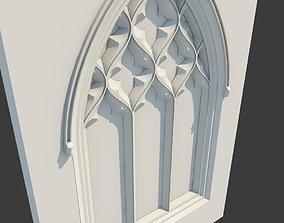 3D Medieval Gothic Window 05