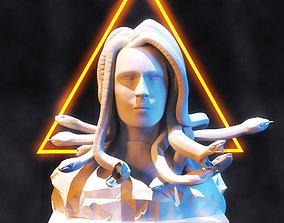 3D asset Medusa Sculpture Low Poly