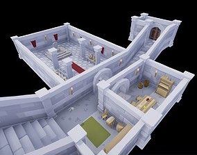 3D model Modular Dungeon Low Poly Package