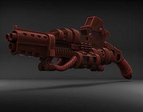 3D print model Stylized Sci-Fi Shotgun