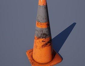 Traffic Cone - Worn 28 Inch 3D asset