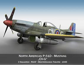 3D North American P-51D - CV-G