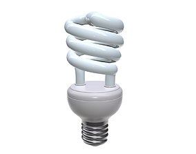 compact fluorescent light bulb 1 3D