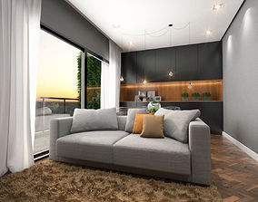 Living Room architectural 3D
