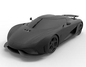 Koenigsegg Regera 3D print model