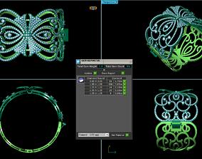 diamond 3D print model bracelet