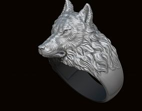 3D print model Wolf ring
