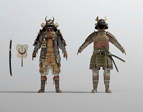 3D model PBR MEDIEVAL japanese Samurai