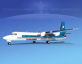 Fokker F-60 Islandair 3D model