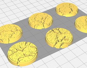 30mm Cracked Earth Bases 3D printable model