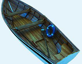 3D Realistic Row fishing Boat