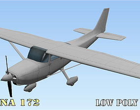 Cessna 172 Low poly game asset VR / AR ready