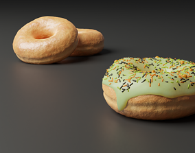 Several Yummy Donuts 3D model