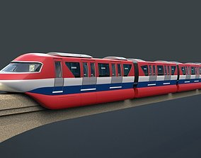 3D model Monorail train network