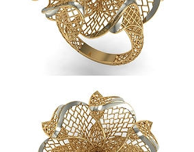 jewelry platinum 3D printable model GOLD RING