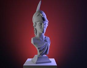 Hi-poly ancient Athena bust Greek 3D printable model