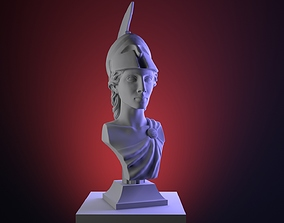 Hi-poly ancient Athena bust Greek 3D printable model