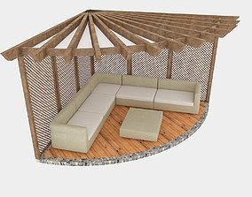 garden camellia 02 3D model