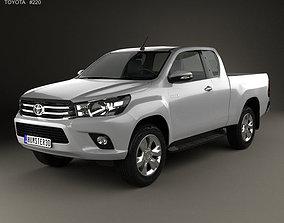 Toyota Hilux Extra Cab SR 2015 3D