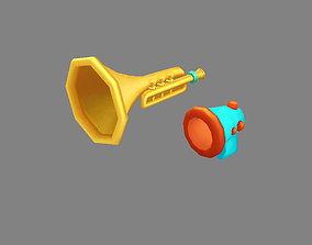 Cartoon megaphone - horn trumpet 3D asset
