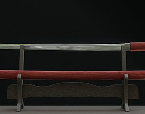Sikomidzue Japanese sword 3D