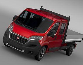 3D Fiat Ducato Crew Cab Truck 2017