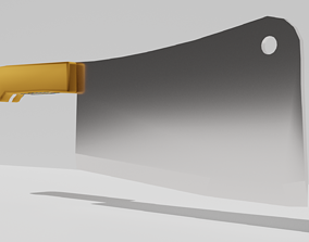 3D model low-poly Butcher Knife