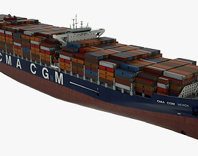 Container ship CMA Nevada 3D model