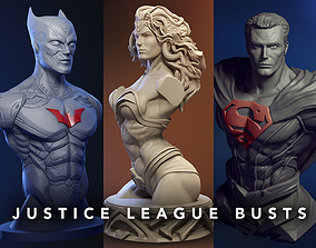 Justice League Busts - Wonder woman - Batman - 3D