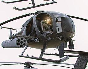 MH-6 Little Bird Helicopter 3D asset